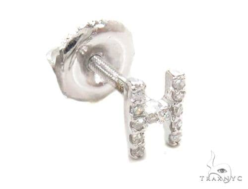 Prong Diamond Initial 'H' Single Earring 49520 Stone