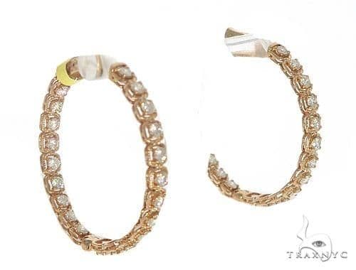 Azalea Diamond Hoop Earrings 49340 Stone