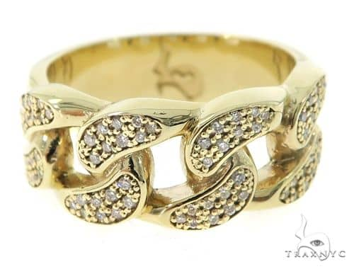 Miami Cuban Link Diamond Ring 49612 Stone