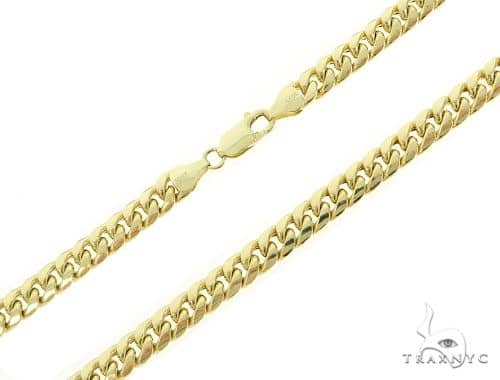Mens 10k Solid Yellow Gold Miami Chain 24 Inches 6.8mm  47990 Gold