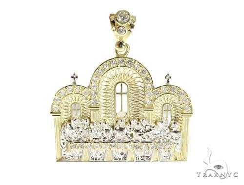 Last Supper 10k Yellow Gold Pendant 49721 Metal