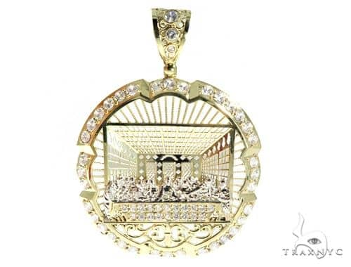Last Supper 10k Yellow Gold Pendant 49714 Metal