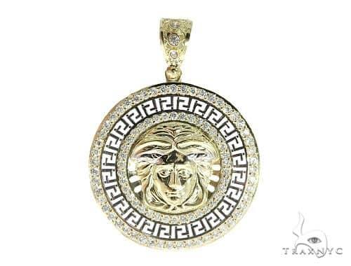 Medusa Gold Pendant 49732 Metal