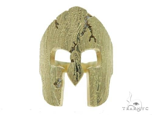 Spartan Mask Diamond Ring Stone