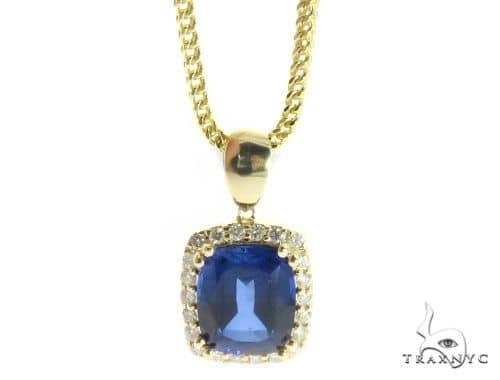 Lepus Diamond Pendant Chain Set 49159 Metal
