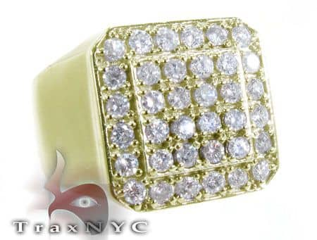 TraxNYC Heavy 14k Yellow Gold Ring Stone