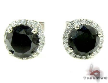Black Euphoria Earrings 2 Stone