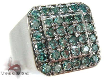 Trax NYC Heavy Blue Color Diamond Ring Stone