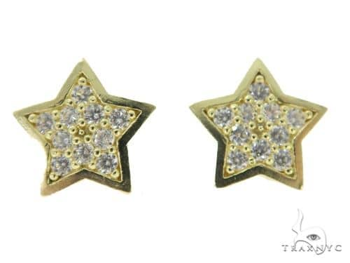 Bling Star Gold Earrings 49799 10k, 14k, 18k Gold Earrings