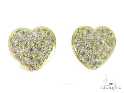 Cutie Heart Gold Earrings 49800 10k, 14k, 18k Gold Earrings