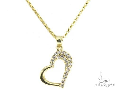 Heart Gold Necklace 49810 Gold