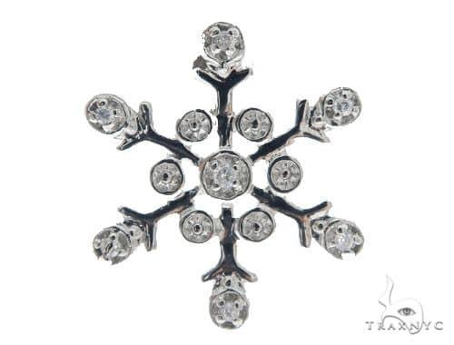 Snow Flake Silver Pendant 49827 Metal