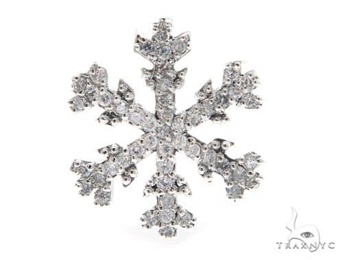 Snow Flake Silver Earrings 49826 Metal
