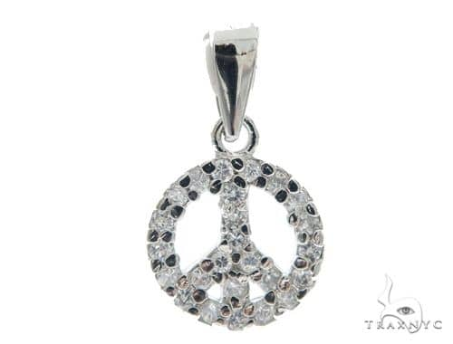Peace Silver Pendant 49825 Metal