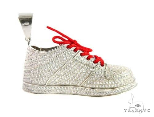 Sneakers Silver Pendant 49844 Metal