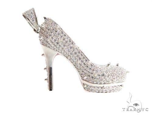 High Heels Silver Pendant 49845 Metal