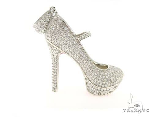 High Heels Silver Pendant 49849 Metal