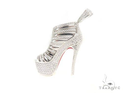 High Heels Silver Pendant 49853 Metal