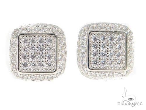 Silver Earrings 49865 Metal