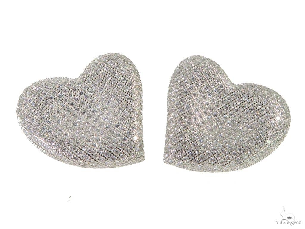Heart Silver Earrings 49880 Metal