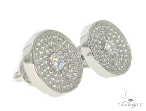 Silver Earrings 49888 Metal