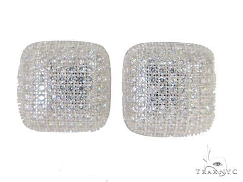 Silver Earrings 49913 Metal