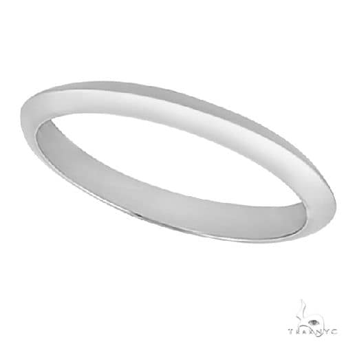 Womens Knife Edge Wedding Band in 14k White Gold (2.7 mm) Anniversary/Fashion