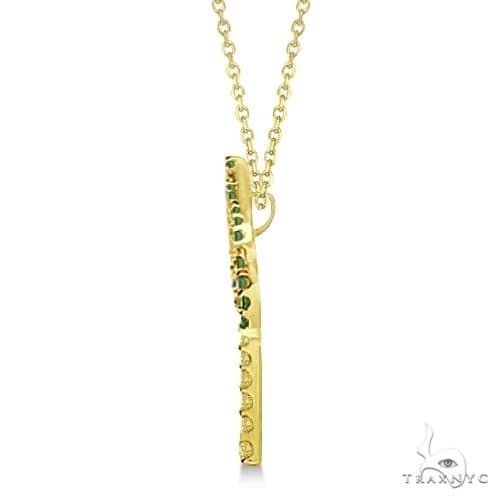 Tsavorite and Yellow Sapphire Palm Tree Necklace 14k Yellow Gold (0.30ct) Stone