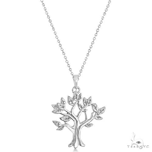 My Tree of Life Pendant Necklace in Solid 14K White Gold Gold