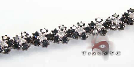 Black & White Diamond  Flower Bracelet Diamond