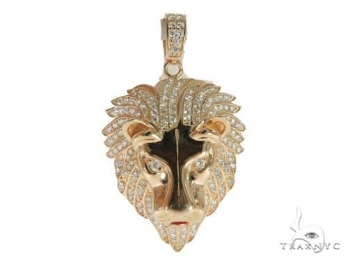 Lion Silver Pendant 56419 Metal