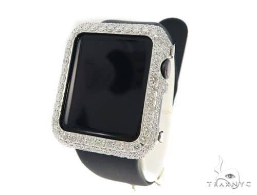 brand new cc397 366ec Apple Watch Diamond Case Mens Watch Accessories White Gold 14k