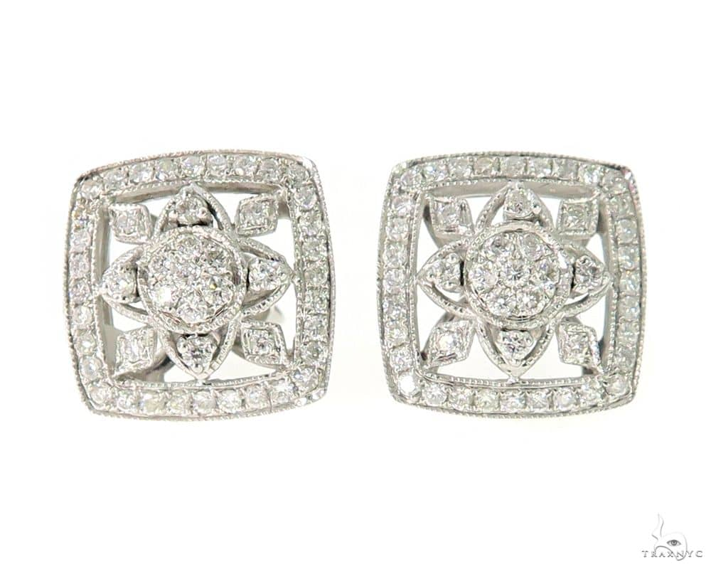 Prong Diamond Earrings 56503 Stone