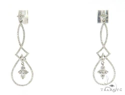 Prong Diamond Chandelier Earrings 56502 Stone