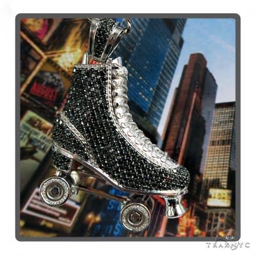 Custom Diamond Roller Skate Pendant 56541 Metal