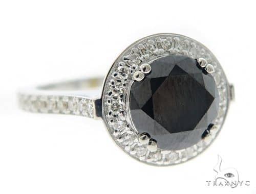 Black Diamond Halo Ring 56737 Anniversary/Fashion