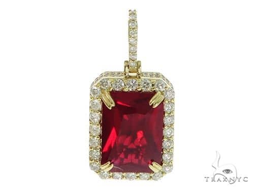 Prong Diamond Red Fancy Pendant 45575 Metal