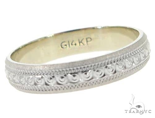 14K White Gold Band 56810 Anniversary/Fashion