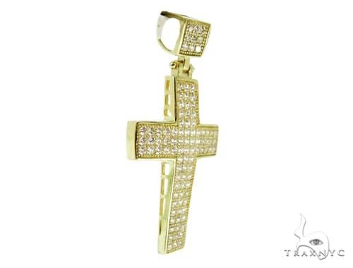 10K Yellow Gold Cross Crucifix Pendant 56862 Gold