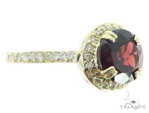 Garnet Diamond Halo Ring 45601 Anniversary/Fashion
