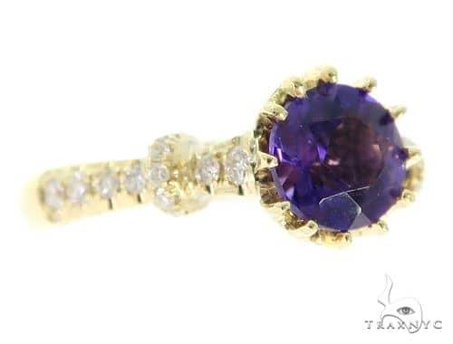Prong Amethyst Diamond Ring 45602 Engagement