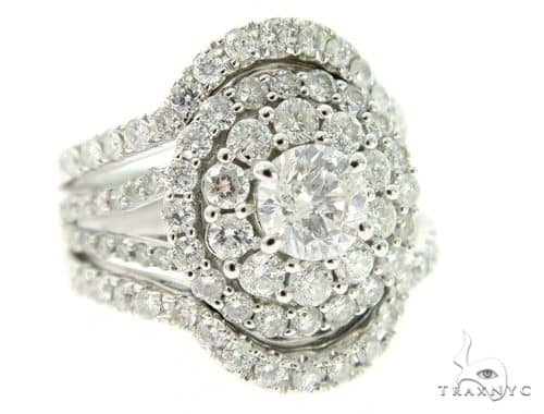 Cluster Halo Diamond Engagement Ring 45607 Engagement
