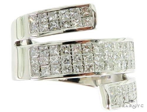 Princess Cut Invisible Diamond Twisted Ring 56902 Anniversary/Fashion