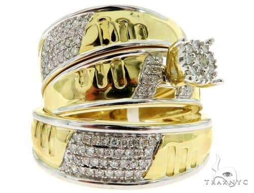 Prong Diamond Wedding Rings Set 56904 Engagement