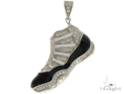 Silver Sneakers Pendant 57001 Metal