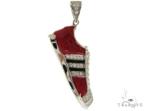 Silver Sneakers Pendant 57017 Metal