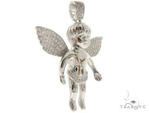 Silver Angel Pendant 57020 Metal
