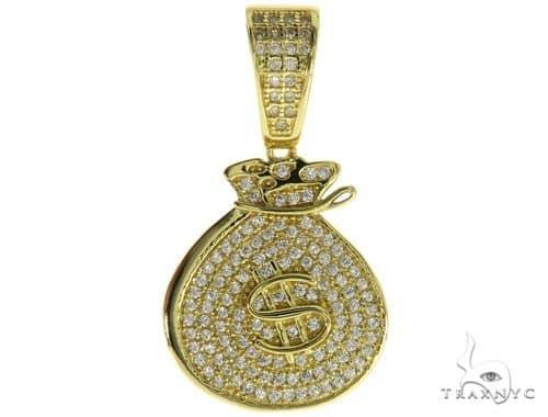 Silver Money Bag Pendant 57021 Metal