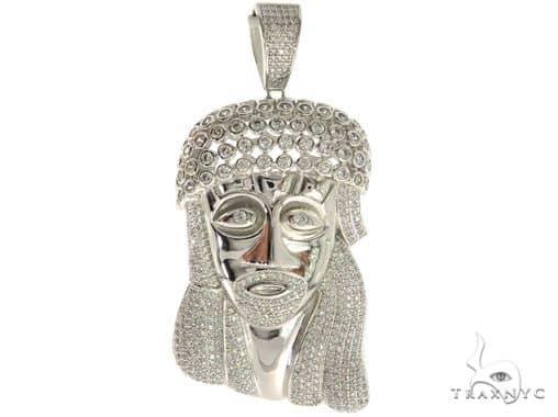 Silver Jesus Pendant 57035 Metal