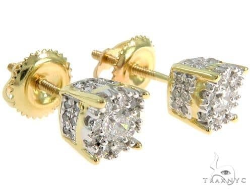 Prong Diamond Cluster Earrings 57043 Stone